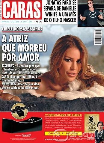 """Revista """"Caras"""" sobre Cibele Dorsa chega às bancas com tarja preta na capa"""
