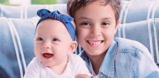 Manuela e Arthur - Filhos Eliana/Instagram