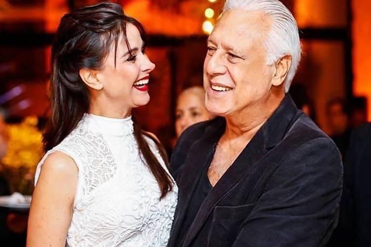 Antônio Fagundes relembra como conheceu sua atual esposa, Alexandra Martins